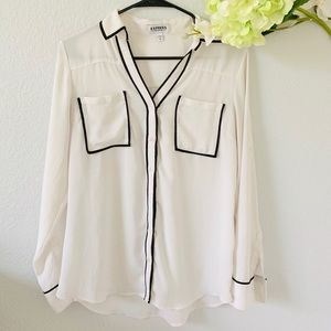 Express piped portofino blouse Sz M